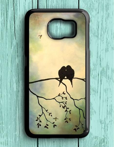 Birds In Tree Branch Art Painting Samsung Galaxy S7 Case