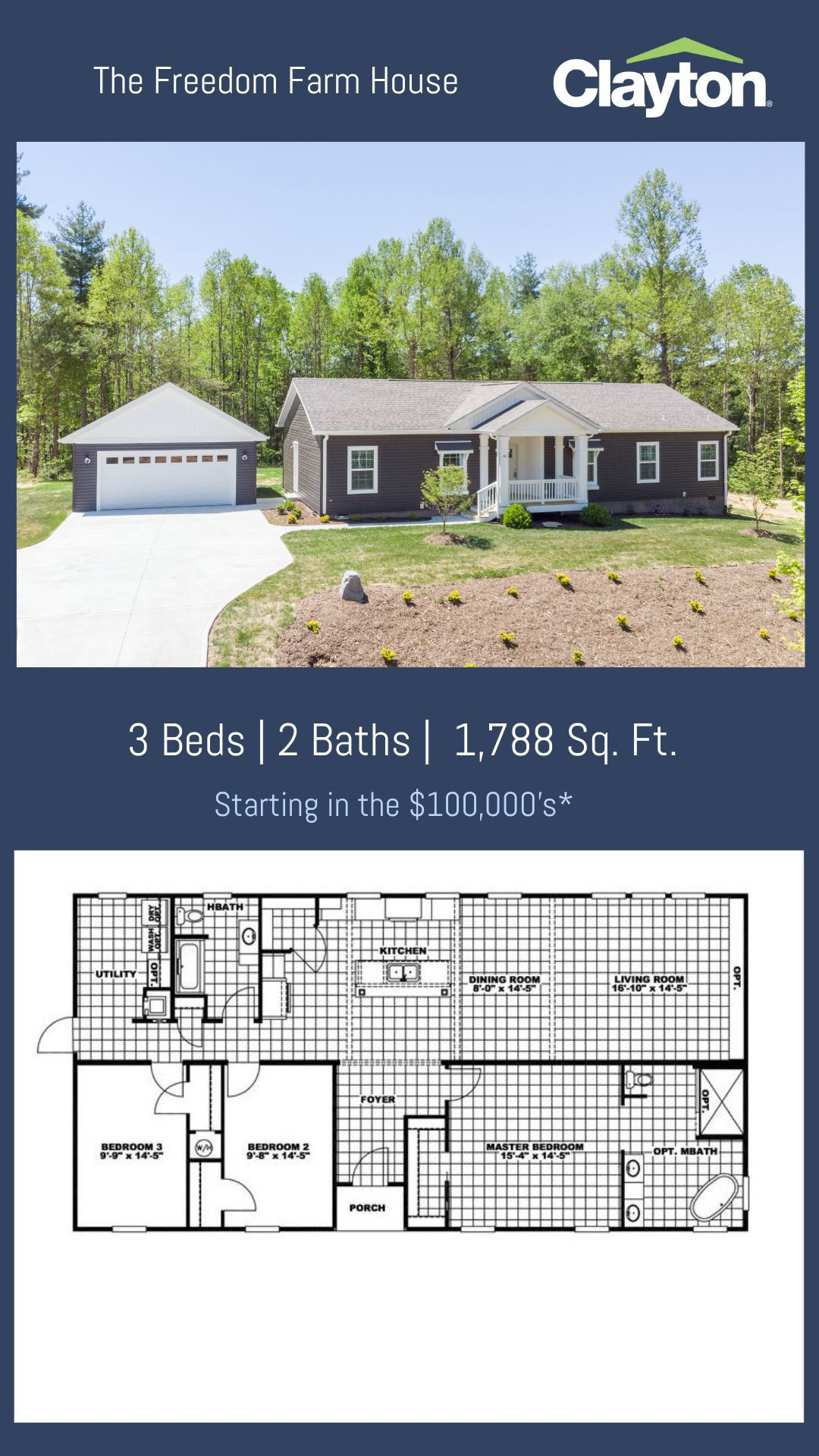 See The Virtual Tour Of The Freedom Farm House Modular Home Floor Plans Clayton Homes House