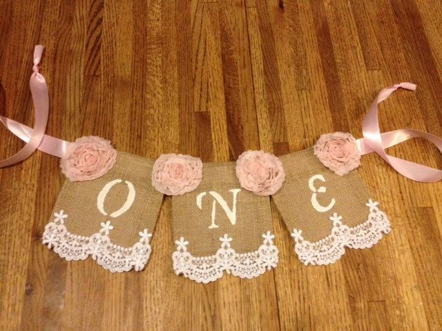 Baby's First Birthday High Chair Banner; Regular Burlap banner, Shabby Chic, Pearls, Lace, Girlie, Burlap, Lace and Ribbon by StacyLavelleDesigns on Etsy https://www.etsy.com/listing/207575638/babys-first-birthday-high-chair-banner