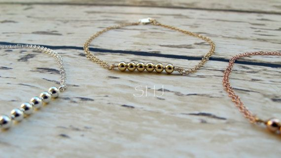 Delicate Gold Bracelet /Thin Gold Chain /14k by SparklesHouse