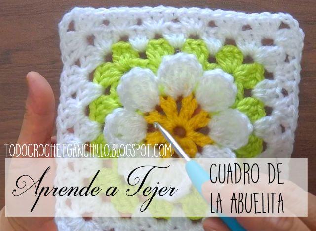 como tejer un granny con flor en relieve | tejido crochet ...