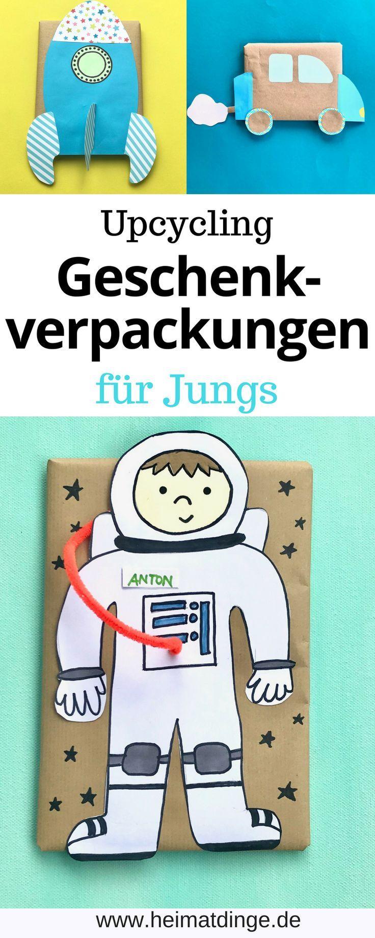 DIY Kindergeburtstag – 12 kreative Ideen für Geschenkverpackungen ...