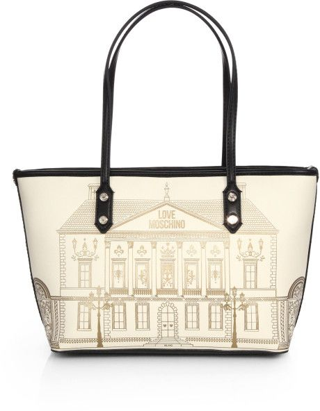 Love this: Small Borsa Manici Building Printed Tote @Lyst