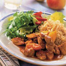 Curry- och äppelkyckling