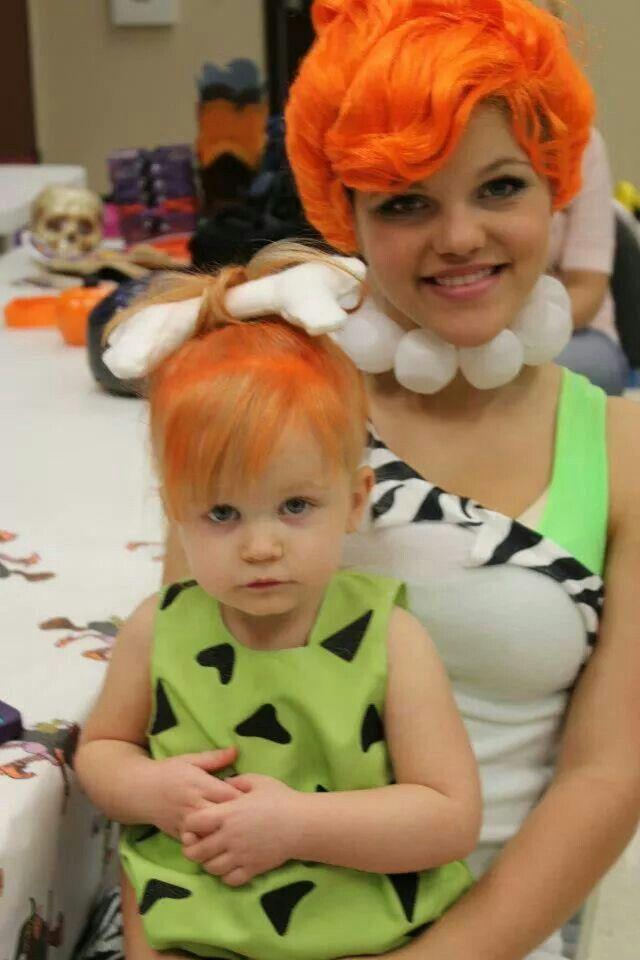 Pebbles and bam bam mommy /daughter costumes #pebblesandbambamcostumes