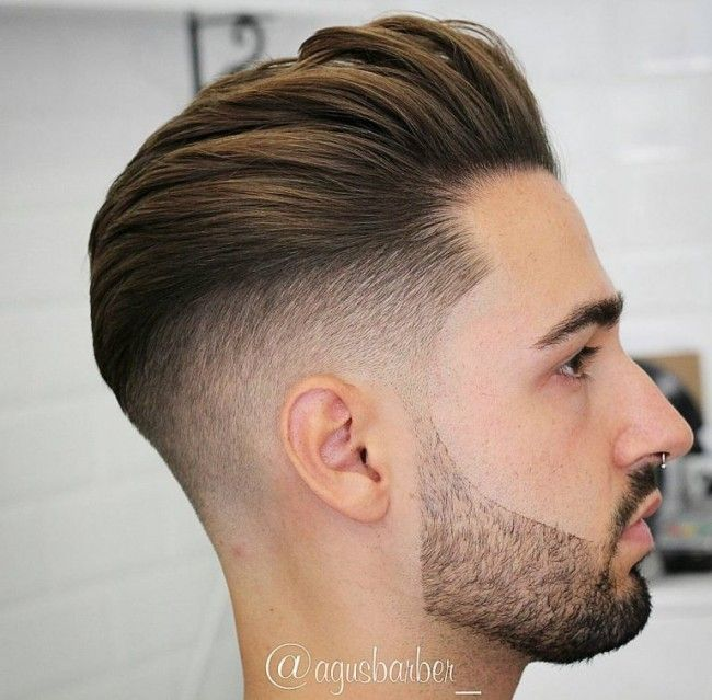 Undercut slicked back barbe d connect e coiffure homme l 39 undercut pinterest coiffure - Coiffure homme barbe ...