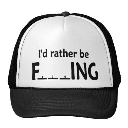 I d Rather be FishING - Funny Fishing Trucker Hat  f00ca3146fa7
