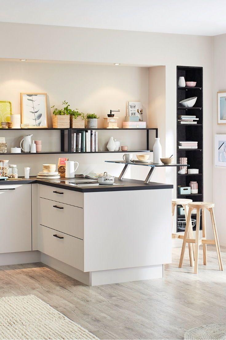 Kuchenkombination Feel Front Sahara Softmatt Lacklaminat Eiche Dekor Geflammt In 2020 Kitchen Design Kitchen Bar Kitchen Pantry Cabinets