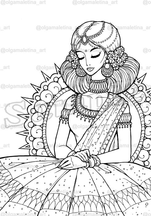 Coloring Page For Adults Magic Of India 3 Esli Sajt Dolgo Ne Gruzitsya Obnovite Stranic Abstract Coloring Pages Summer Coloring Pages Barbie Coloring Pages