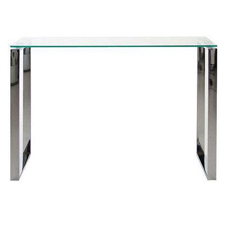debenhams chrome and glass 'alberta' console table- | debenhams