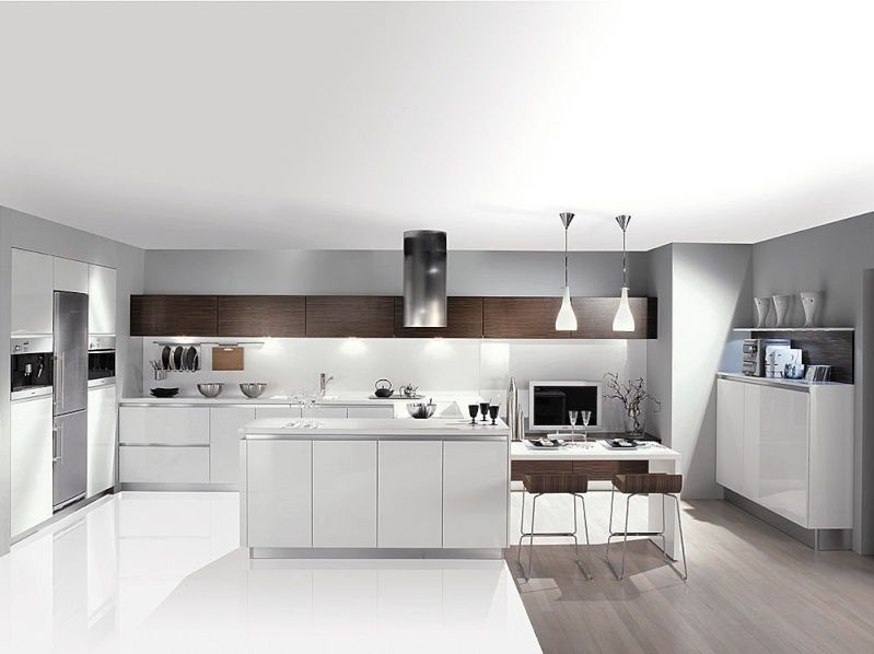 Une Cuisine Sans Meuble Haut Kitchen Design Kitchen Kitchen