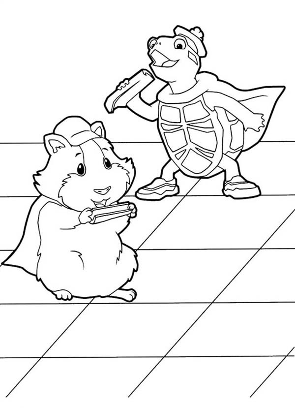 Linny And Turtle Tuck Eating Vegetables In Wonder Pets Coloring Page Coloring Sun In 2020 Wonder Pets Coloring Pages Pets