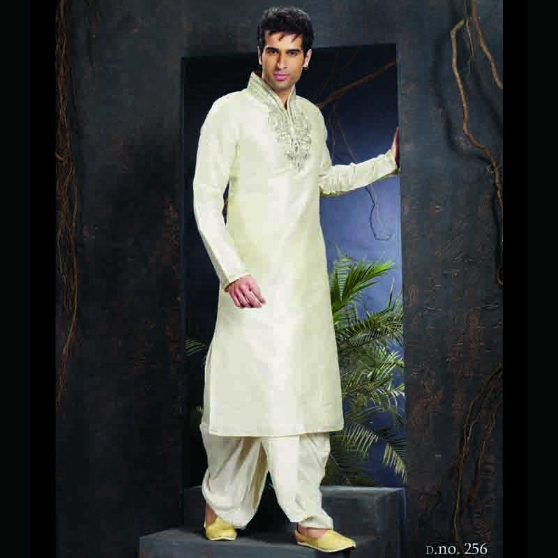 Men Dress In White Party Wear Kurta Online
