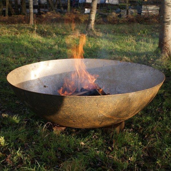 80cm Steel Bowl Dish Wood Burner Fire Pit Firepit Garden Heat Stove Free Gift Outdoor Fire Pit Fire Pit Fire Pit Australia
