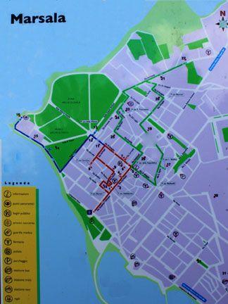 Map of Marsala Sicily Visit Marsala Trapani Sicily Pinterest