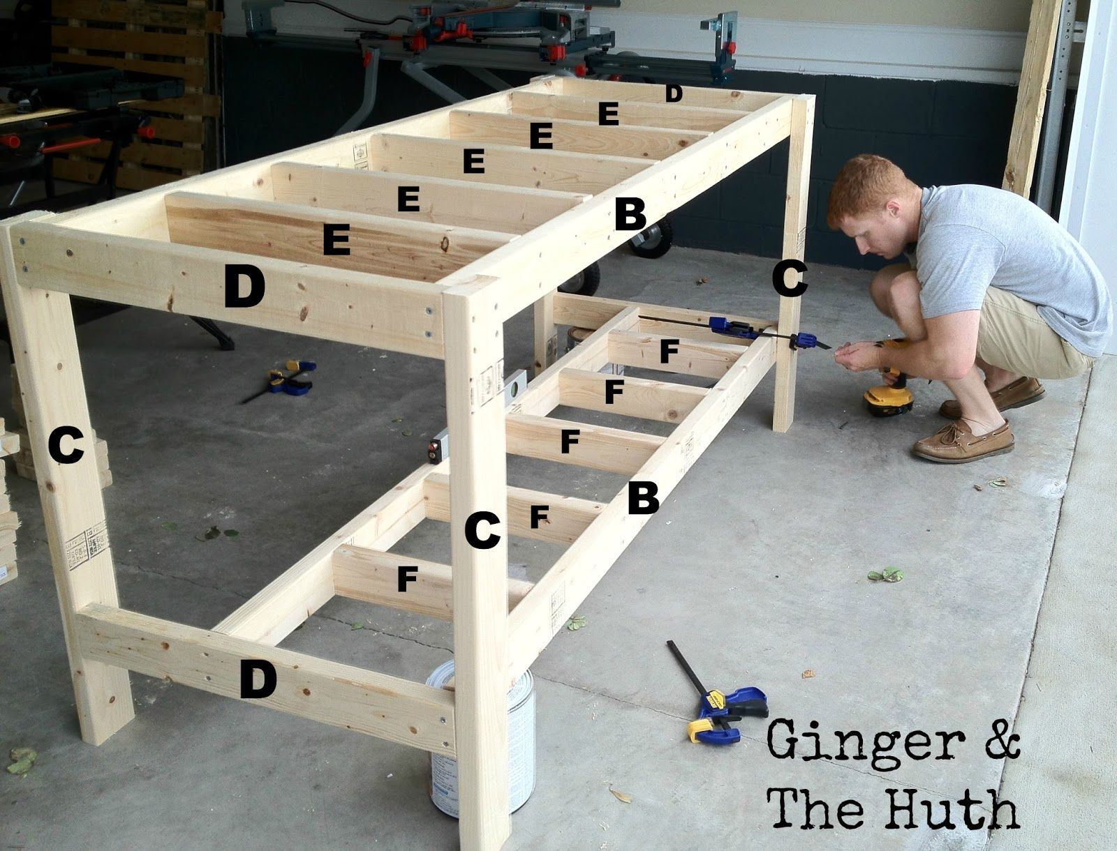 ginger the huth diy work bench diy pinterest
