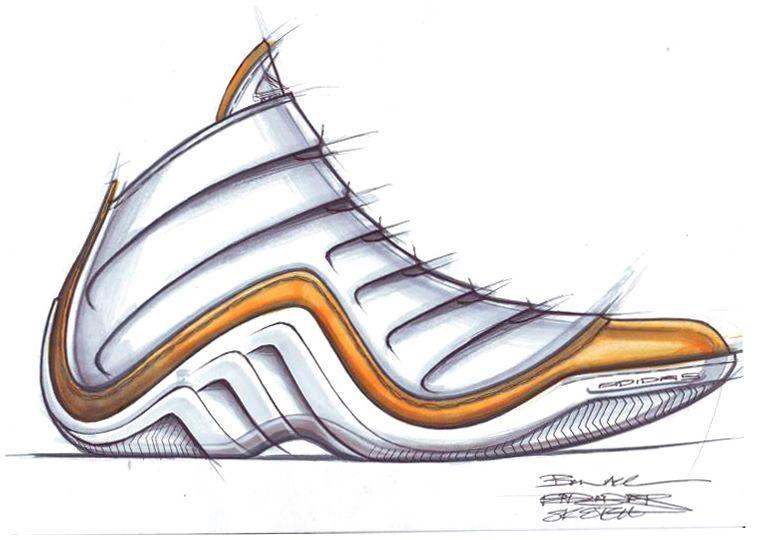 Nice Shoe Sketches | Adidas Sketch   Adidas Basketball Shoe Sketch.