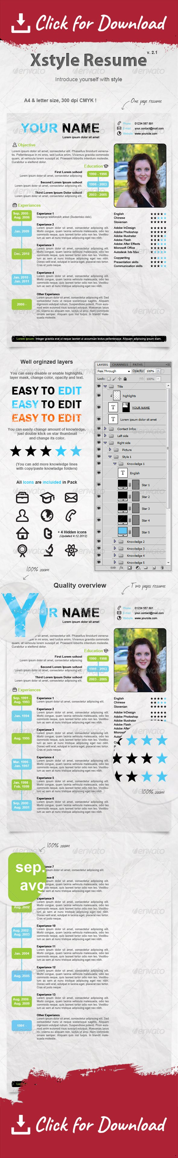 Xstyle Resume | Resume styles, Professional resume and Personal ...