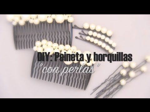 DIY: Decora tus horquillas y peinetas con perlas