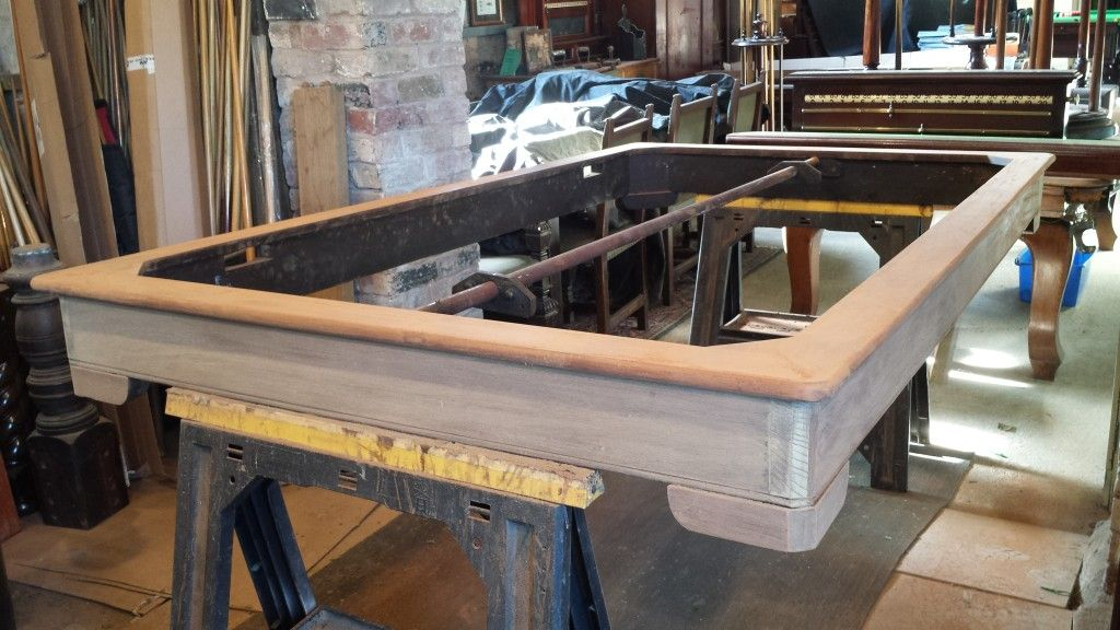 Frame Of Antique Rollover Snooker Dining Table With Old