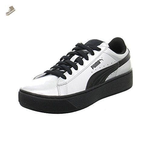 Puma - Vikky Platform Metallic - 36360902 - Color: Black-Silver - Size: 7.0 - Puma sneakers for women (*Amazon Partner-Link)