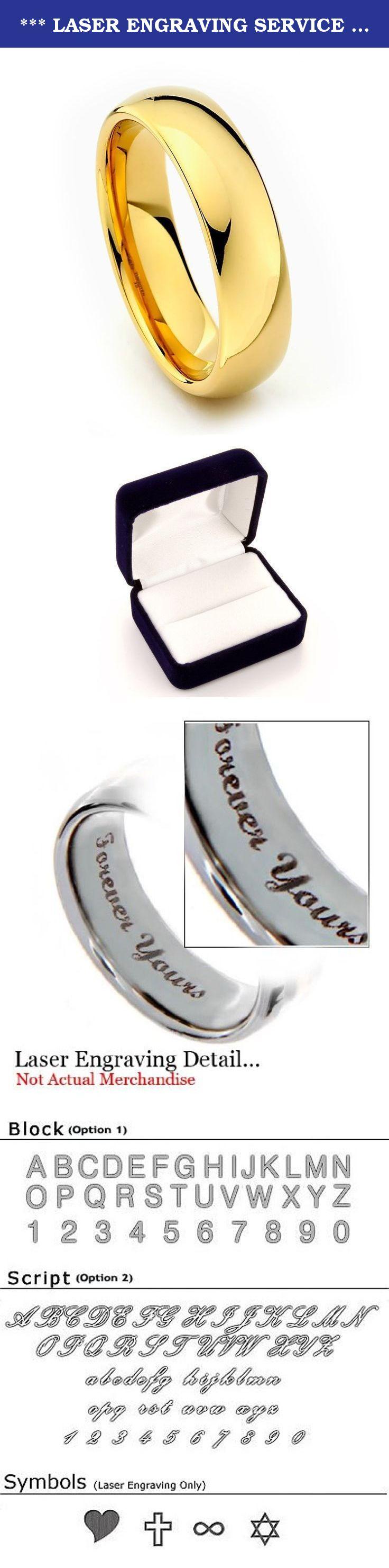 laser engraving service 6mm gold tone men s tungsten wedding