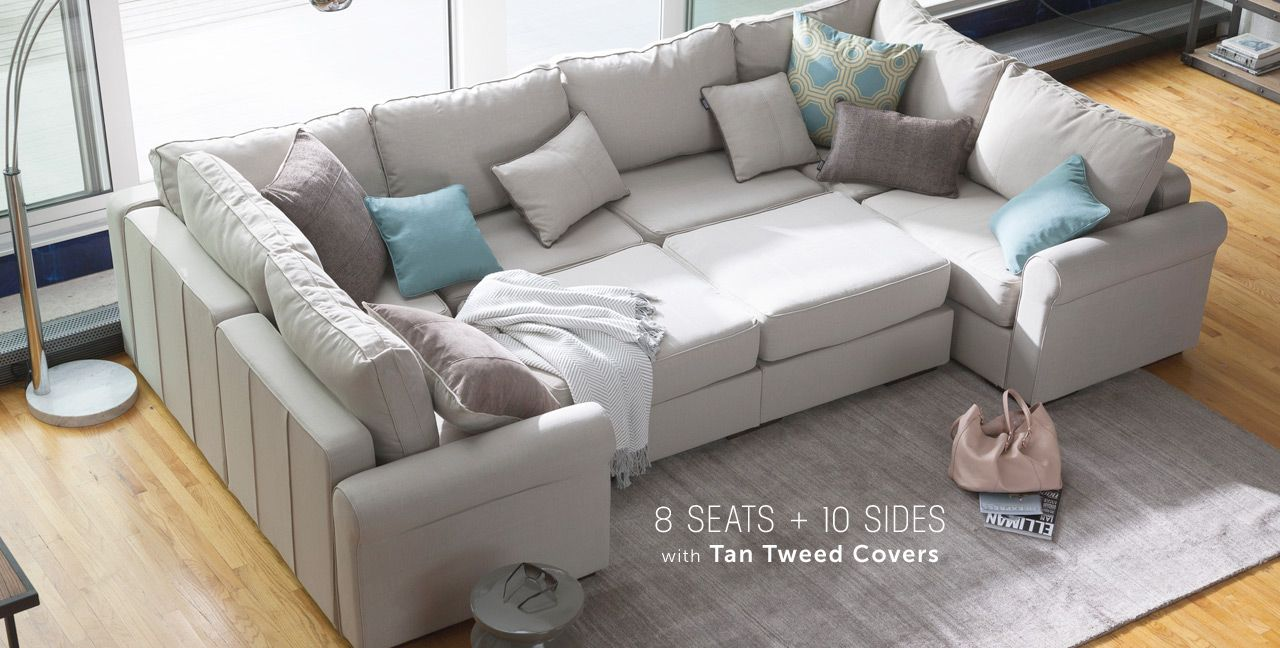 Convertible pieces to fit any room / sectional sofa pit group / washable andu2026 : pit sectional sofas - Sectionals, Sofas & Couches