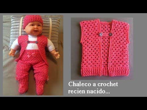 Chaleco a crochet para recién nacido ( todas las tallas) - YouTube ... 6db18574fb6