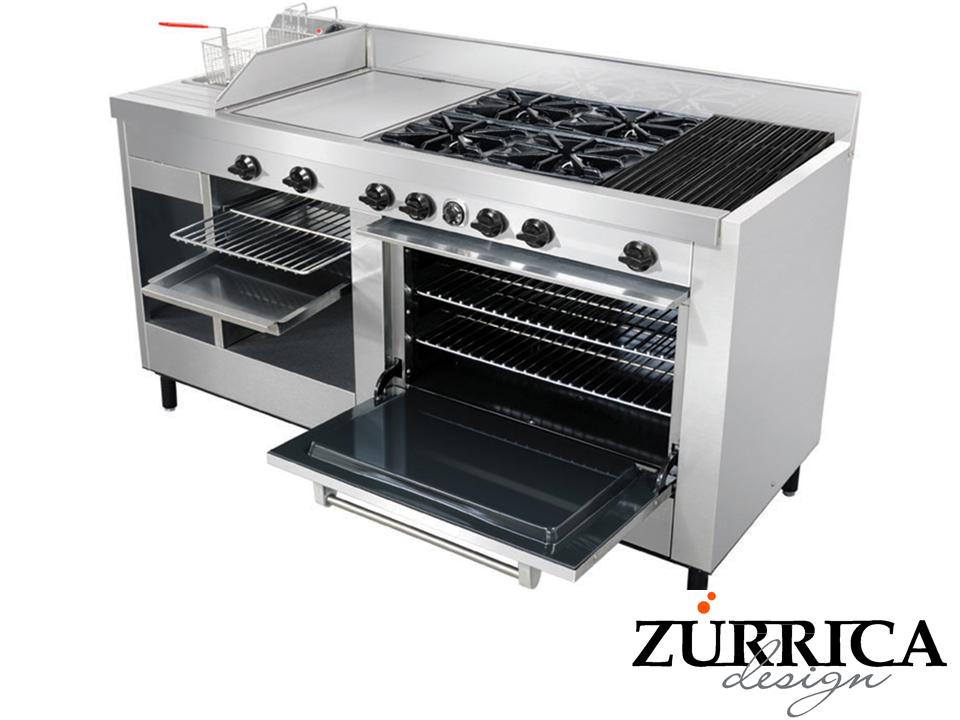 Las mejores cocinas industriales la estufa para su cocina for Parrilla cocina industrial