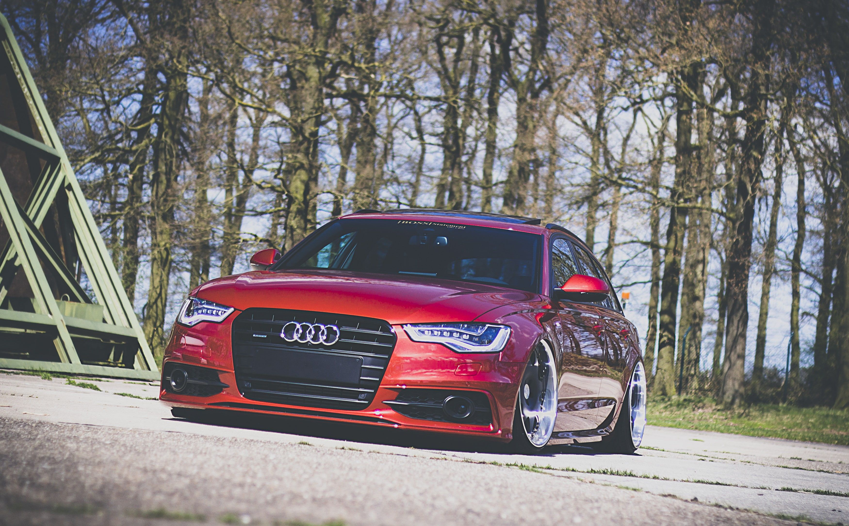 Audi A6 Avant Audi A6 Avant Wagon Red Stance Front S Best 2k Wallpaper Hdwallpaper Desktop Audi A6 Audi Audi A6 Avant