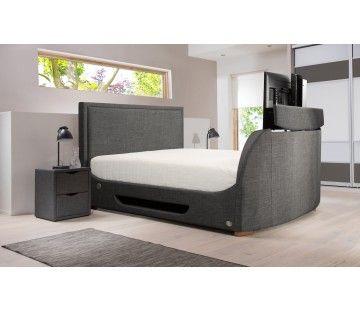 Fantastic 10 Off New Maddison Curve Ottoman Grey Fabric Tv Bed Creativecarmelina Interior Chair Design Creativecarmelinacom