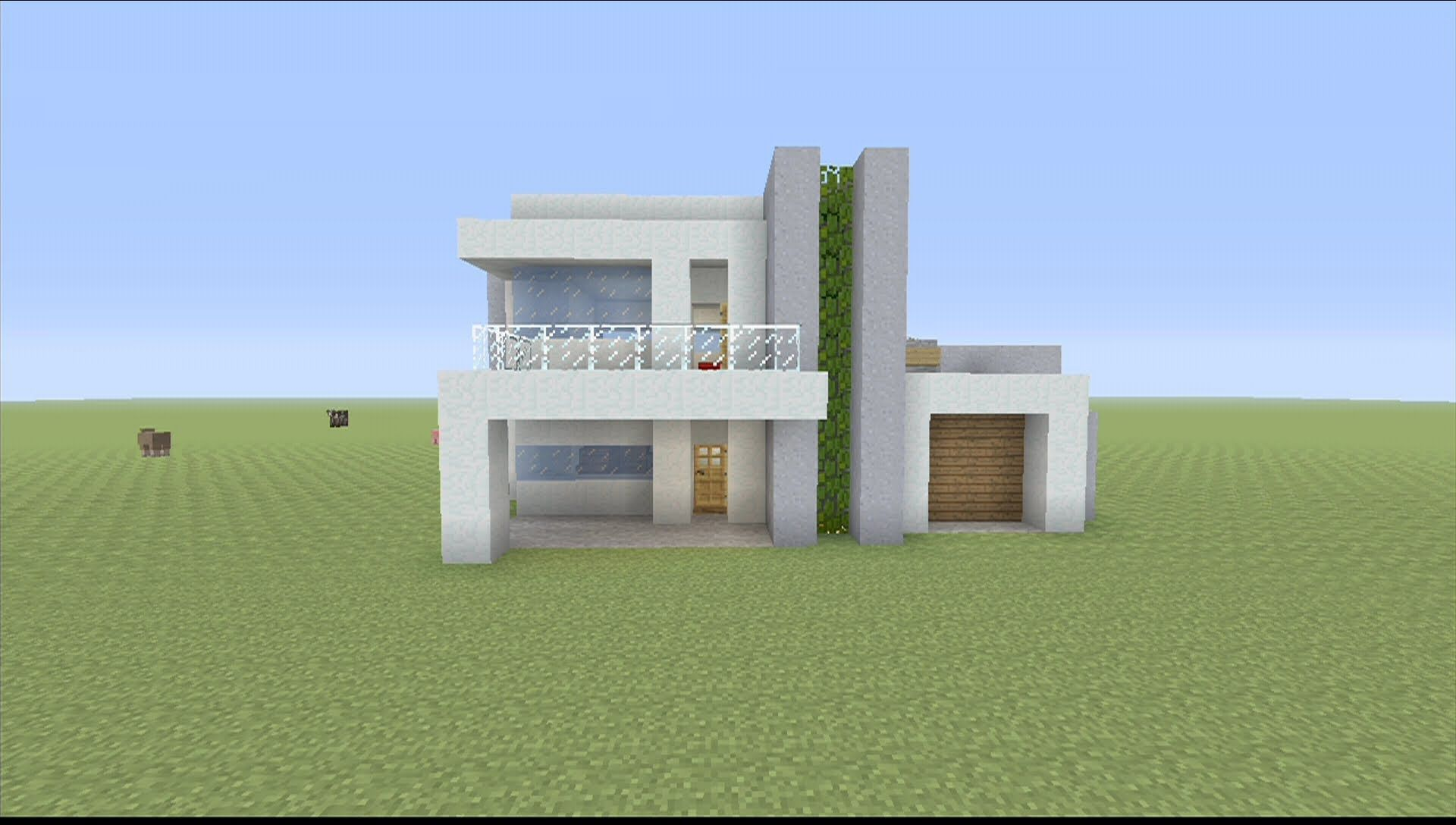 How to Build a Small Modern House in Minecraft - YouTube ...