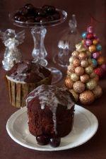 chocolate cherry Christmas fruitcake