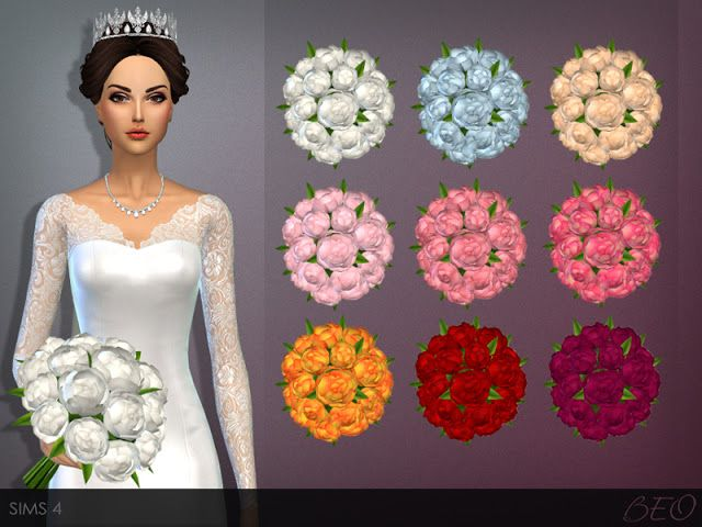 Sims 4 CCs  The Best Tiara  Wedding Bouquet by Beo Creations  Sims 4 cc  Sims Sims 4 und