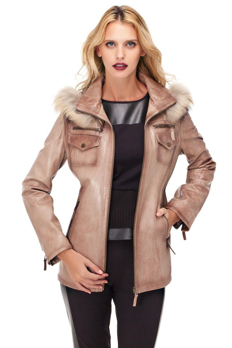 1c79ae24ab63b Derimod 2018 2019 Bayan Deri Mont Modelleri | Fur and Leather | Moda ...
