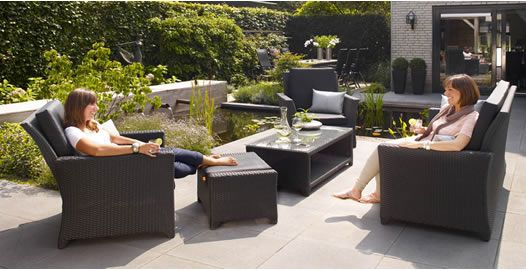 Outdoor Living Patio Furniture Selena 5 Pc Lounge Set With