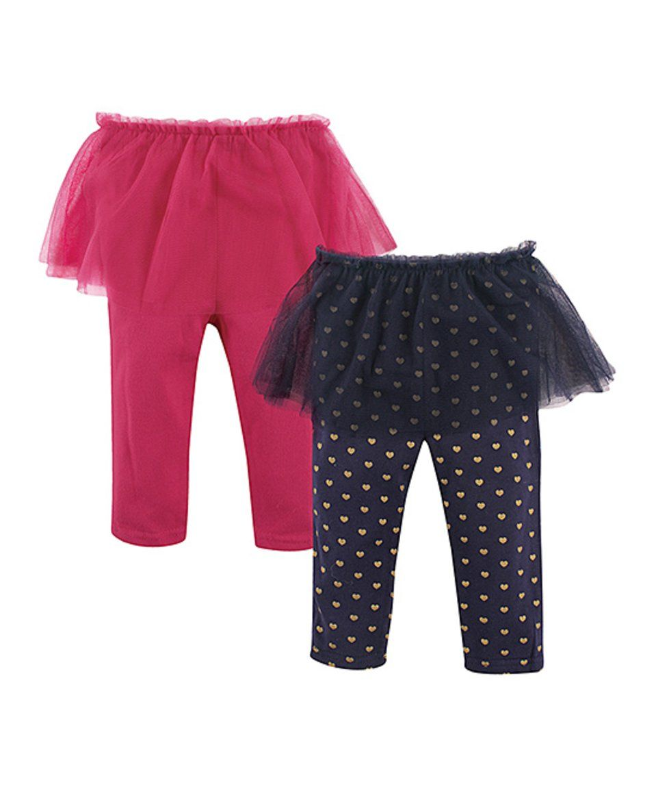 482294e5ba9a4 Take a look at this Black & Pink Heart Print Tutu Leggings Set - Infant  today!