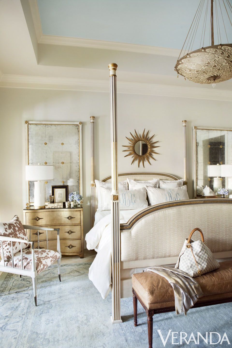 Sunburst Mirror Bedroom Bam Emeril Lagasses Florida Home Is As Summery As They Come