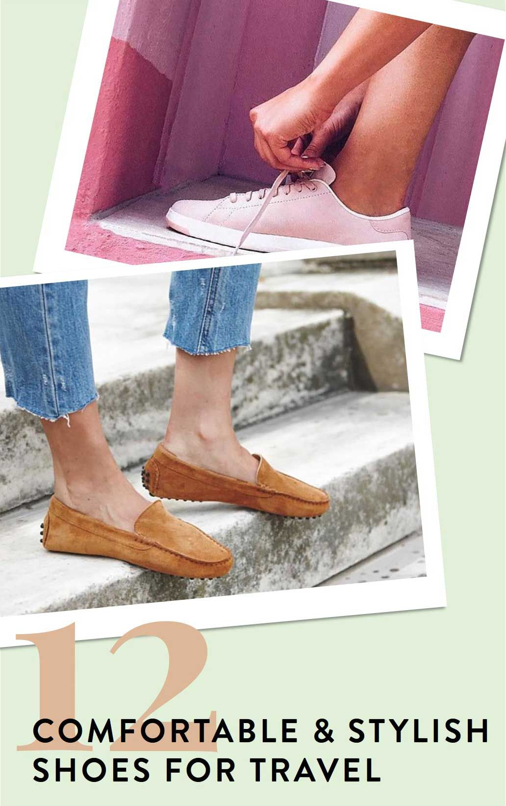fd598b2b4 12 comfortable travel shoes you'll want for your next vacation! driving  moccasins, sleek sneakers and comfortable walking flats - read more!  #packing