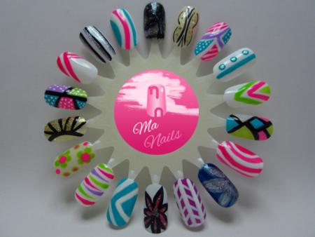 Nail Art Designs Using Kiss Artist Paint Nails Swatches Polish Nailart Bellashoot