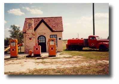 """This circa 1920's, """"cottage"""" style station was loving restored on Route 66 in 1993."""