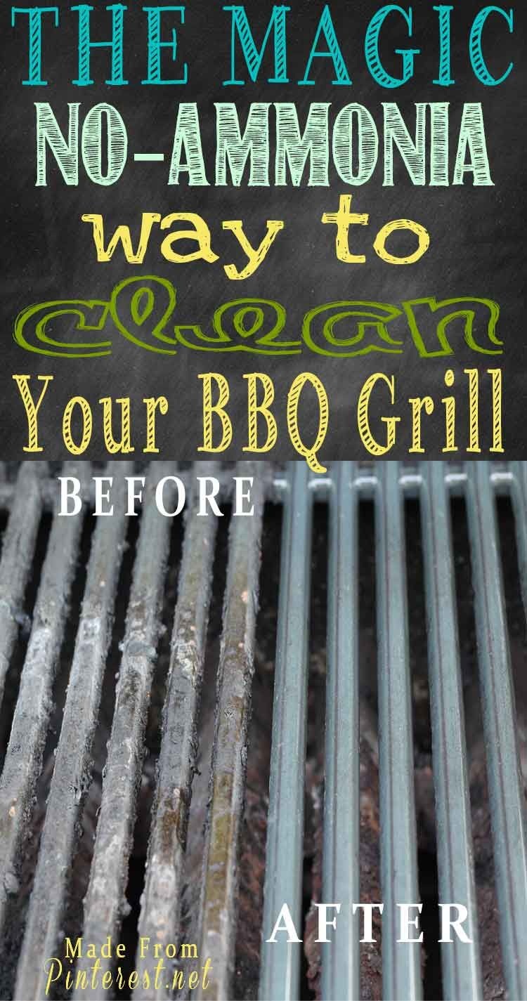 Magic No Ammonia Way To Clean Your Bbq Grill Diy Cleaning