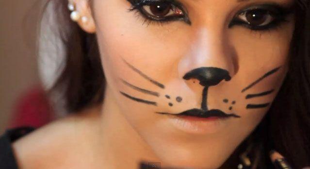 5a2bbfbeb Maquillaje de gato para Halloween13 | fotos in 2019 | Maquillaje de ...