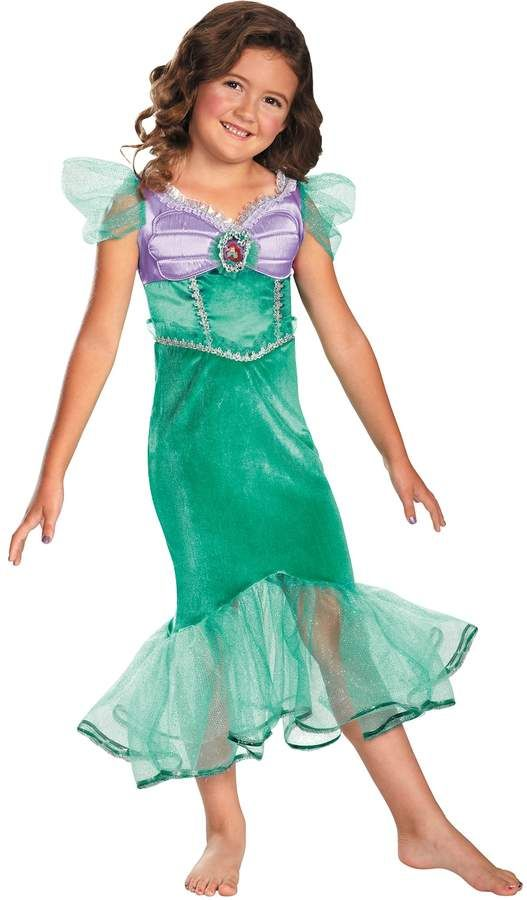 Disney The Little Mermaid Ariel Costume Dress for Kids sizes 4-8 Brand New