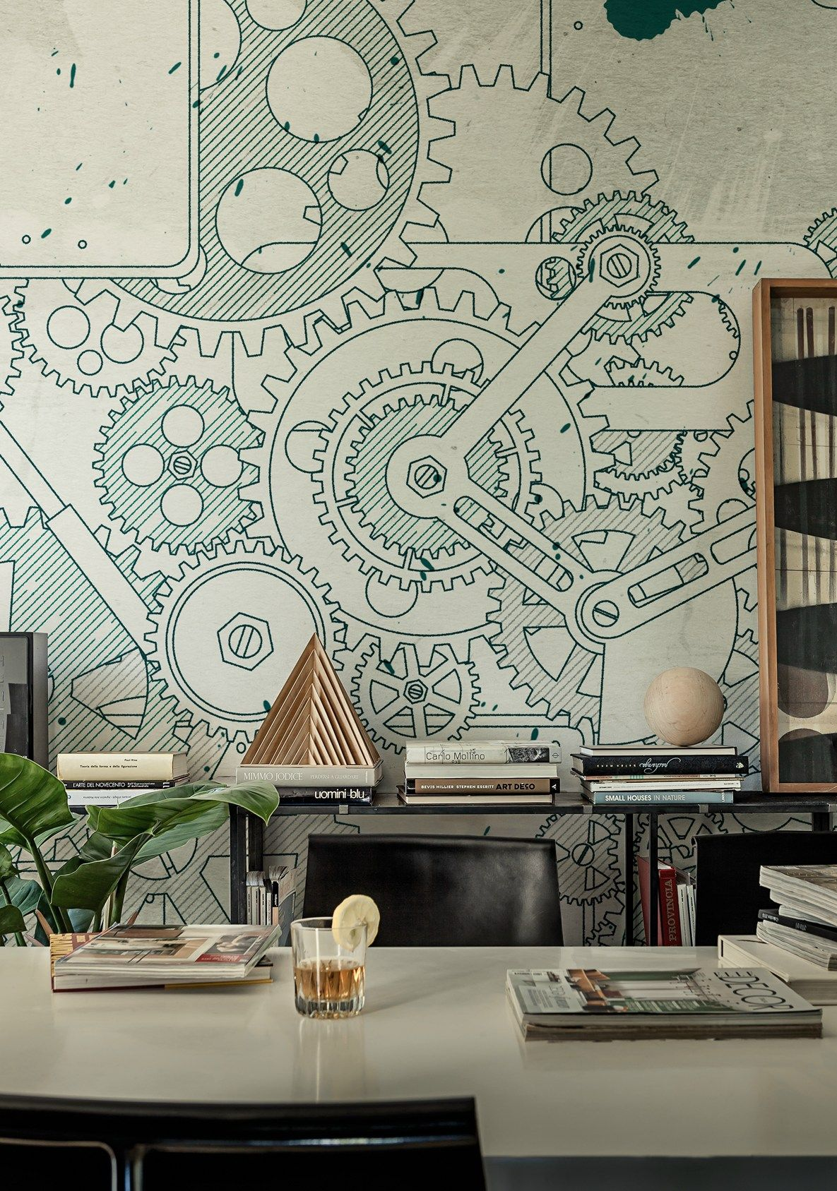 Papier Peint Steampunk Graphic Pattern For Truly Original Visual Effects Wall Decò