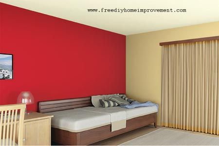 Home Interior Wall Paint Color Scheme With Red Color Home