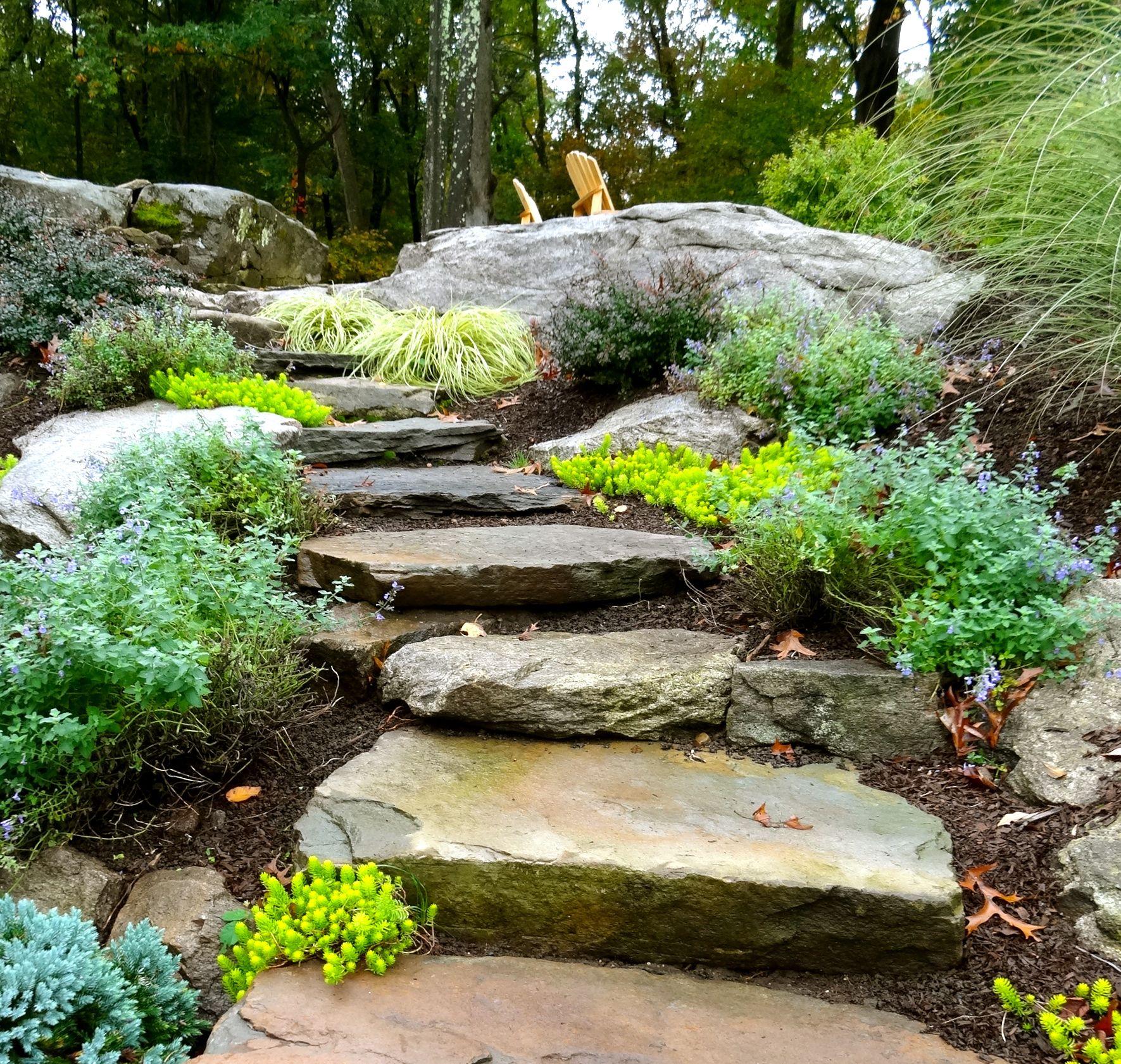 Pin By Linda Klingmann On Jennifer Anderson Design Development Landscaping With Rocks Backyard Sitting Areas Wooden Garden Planters