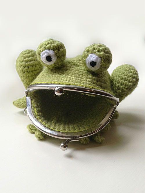 Frog Coin Purse crochet pattern by Laura Loves Crochet | Crochet ...
