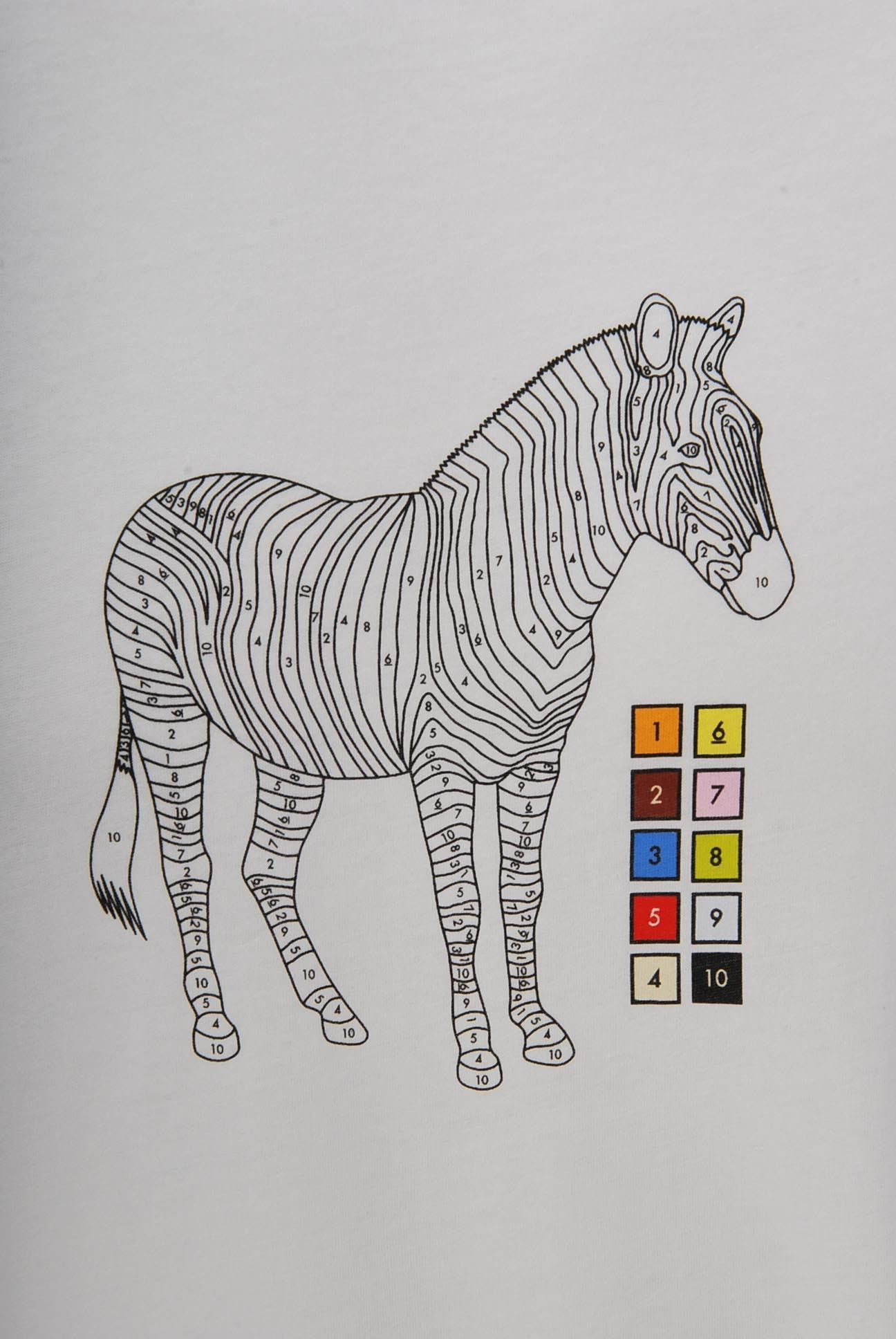 Paul Smith Zebra Paint By Numbers Print T-Shirt White ...