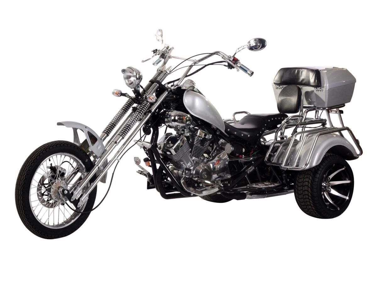 tri001 250cc trike 5 speed transmission lifan double cylinder v type engine air cooled front disc rear discs brakes 18 12 wheels huge rear trunk  [ 1200 x 900 Pixel ]